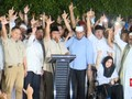 Kertanegara Bergemuruh, Pendukung Teriak 'Prabowo Presiden'