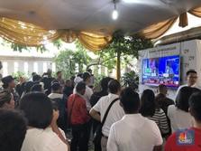Unggul Quick Count, Tim Jokowi Teriakan Pekik Kemenangan