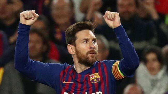Messi Dua Gol, Barcelona Unggul Atas Man United di Babak I