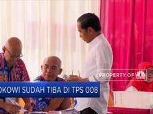 Dikawal TKN, Jokowi Nyoblos di Gambir