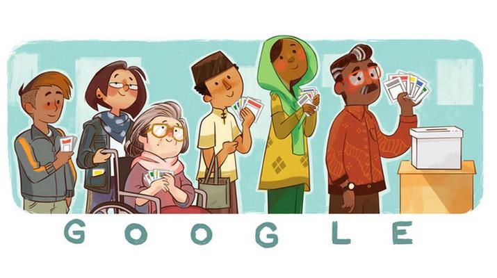 Indonesia Election 2019, Cara Google Doodle Rayakan Pemilu RI