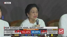 VIDEO: PDIP Bicara Hasil Quick Count, Puji