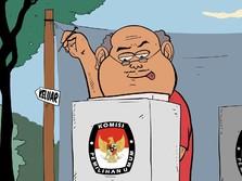 Real Count KPU: Selisih Jokowi-Prabowo Sampai 12,5 Juta Suara