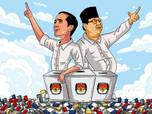 Situng KPU 90%: Jokowi 76 Juta Suara Vs Prabowo 61 Juta Suara