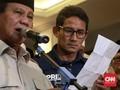 Prabowo-Sandi Tak Hadiri Sidang Perdana Sengketa Pilpres