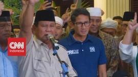 VIDEO: Didampingi Sandi, Prabowo Deklarasi Kemenangan Pilpres