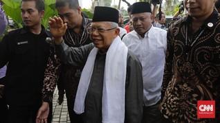 Ma'ruf Soal Klaim Menang Prabowo: Namanya Ngaku Boleh Saja