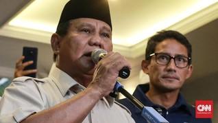 Prabowo-Sandi Daftarkan Sengketa Pilpres ke MK Sore Ini