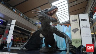 Ice Dragon 'Game of Thrones' Mejeng di Mal Jakarta