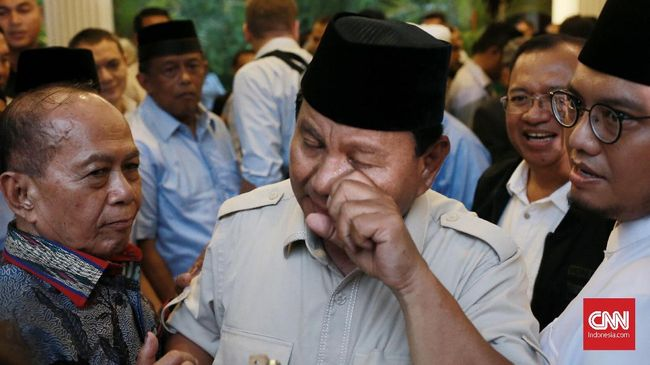 Prabowo Usap Luka Relawan, Minta Sabar dan Hindari Kekerasan