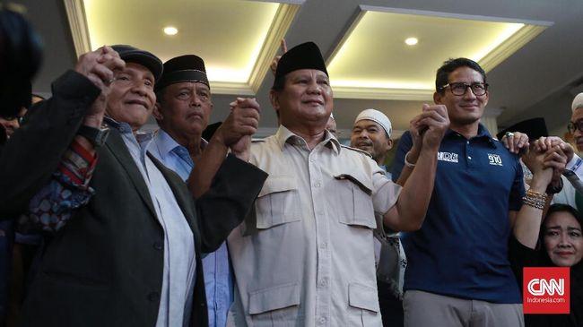 Kumandang Takbir dan Merdeka Prabowo di Deklarasi Kemenangan
