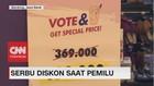 VIDEO: Warga Serbu Diskon Spesial Pemilu RI 2019