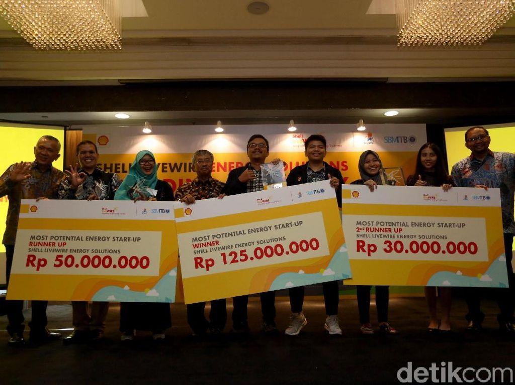Ada tiga pemenang yang berhak mendapatkan hadiah berupa dana pengembangan bisnis senilai Rp 125 juta untuk pemenang 1, Rp 50 juta untuk pemenang 2, dan Rp 30 juta untuk pemenang 3.