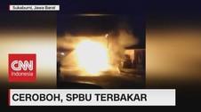 VIDEO: Karena Tak Matikan Mesin Kendaraan, SPBU Terbakar