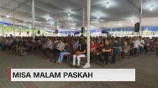 VIDEO: Misa Malam Paskah di Katedral Jakarta