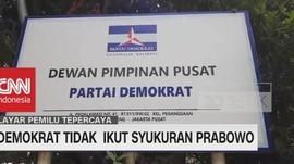 VIDEO: Demokrat Absen Syukuran Prabowo