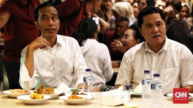 Jokowi Santap Nasi Padang di Grand Indonesia