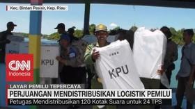 VIDEO: Kisah Perjuangan Mendistribusikan Logistik Pemilu