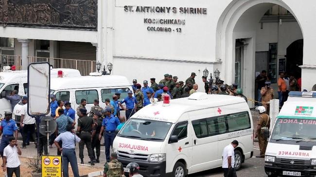 Ketiga gereja tersebut adalah St Anthony di Kolombo, St Sebastian di Katuwapitiya, dan sebuahgereja di Batticaloa. (REUTERS/Dinuka Liyanawatte)