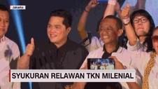 VIDEO: Erick Thohir Hadiri Syukuran Relawan Milenial 01