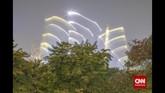 Hutan kota bukan hanya untuk paru-paru yang menjaga kualitas udara kota, tetapi penting bagi keseimbangan ekologi manusia. Ketersediaan air tanah, Perlindungan sinar matahari, dan pengurangan pemanasan global. (CNN Indonesia/Adhi Wicaksono)