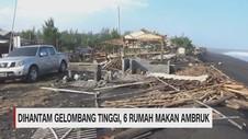 VIDEO: Dihadang Gelombang Tinggi, 6 Rumah Makan Ambruk