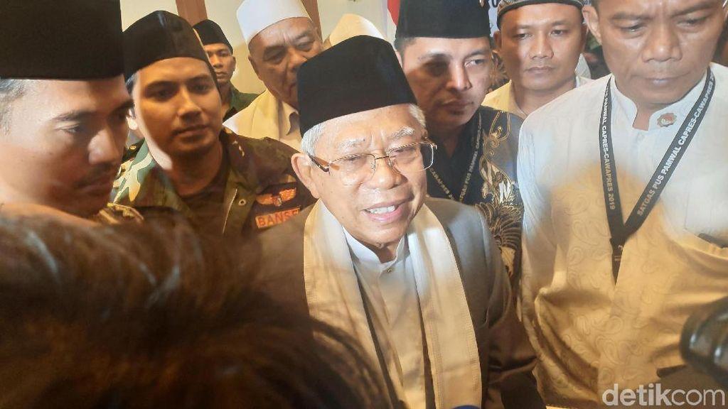 Luhut Diutus Jokowi Temui Prabowo, Ma'ruf: Hilangkan Kesan Permusuhan
