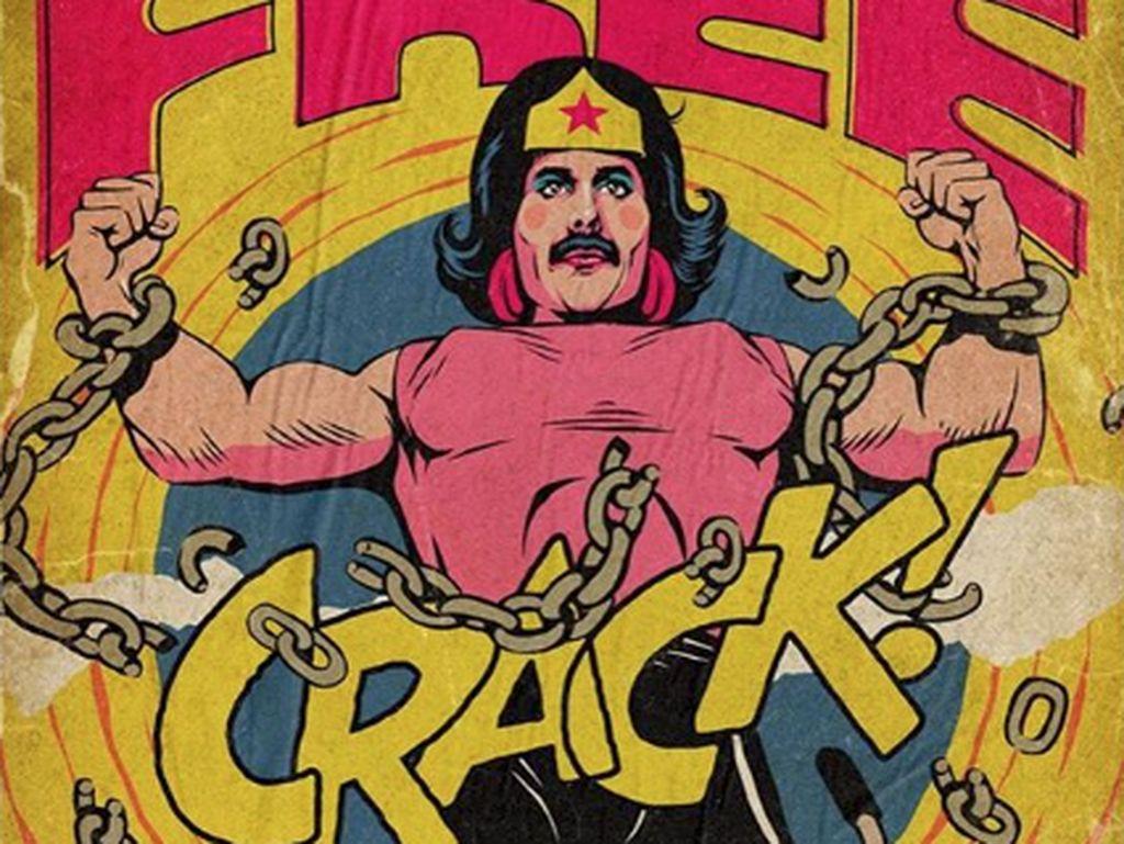 Kini ia membuatnya dari lagu-lagu milik Queen yang dibuat kece bak komik superhero.Dok. Instagram/thebutcherbilly