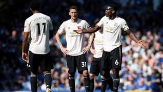 Kalah Telak, Man United Nol Tembakan dalam 85 Menit 44 Detik