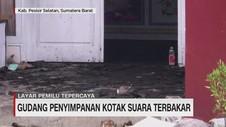 VIDEO: Gudang Penyimpanan Kotak Suara Terbakar