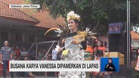 VIDEO: Busana Karya Vanessa Angel Dipamerkan di Lapas