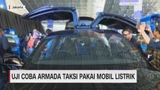 VIDEO: Uji Coba Armada Taksi Pakai Mobil Listrik