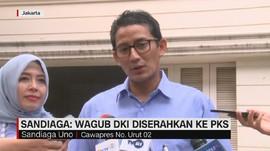VIDEO: Sandiaga Pastikan Kursi Wagub DKI untuk PKS