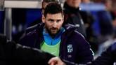 Lionel Messi terdaftar sebagai pemain cadangan pada daftar susunan pemain Barcelona di Stadion Mendizorroza melawan Alaves. (REUTERS/Vincent West)