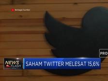 Saham Twitter Melesat 15,6%