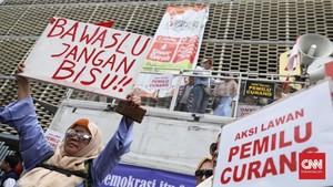 Aksi Massa Desak Bawaslu Nyatakan Pemilu 2019 Curang