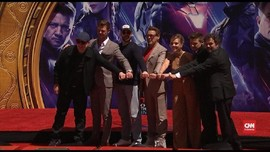 VIDEO: 6 'Avengers' Cetak Tangan di Hollywood