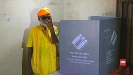 VIDEO: India Bangun TPS Khusus untuk Satu Pemilih di Hutan