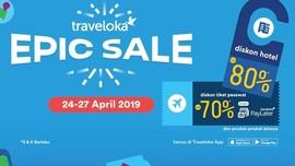 Pesan Hotel Pakai Promo Traveloka Epic Sale Diskon 80%