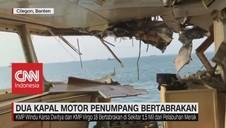 VIDEO: 2 Kapal Motor Penumpang Tabrakan, 1 ABK Tenggelam