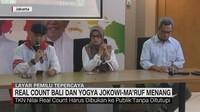VIDEO: Real Count Bali dan Yogya, Jokowi-Maruf Menang