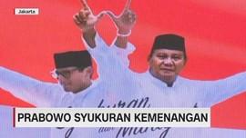 VIDEO: Prabowo Syukuran Kemenangan, Sandiaga Absen