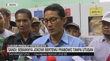 VIDEO: Sandi Imbau Jokowi Bertemu Langsung dengan Prabowo