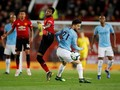 MU vs Man City, Tendangan Kungfu David Silva Bikin Fan Geram