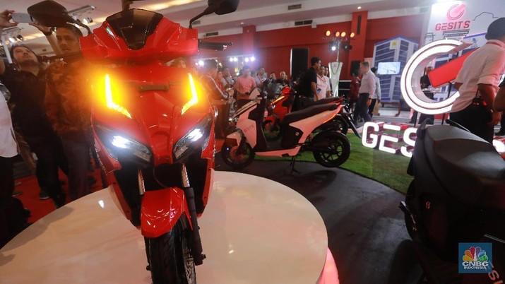 Motor Listrik Gesits (CNBC Indonesia/Muhammad Sabki)