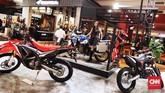 Astra Honda Motor (AHM) memajang motor-motor andalan. AHM juga meluncurkan X-ADV di IIMS 2019 (CNN Indonesia/Hesti Rika)