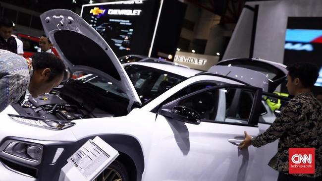 Hyundai memanfaatkan IIMS 2019 untuk meluncurkan Kona. (CNN Indonesia/Hesti Rika)