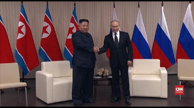 VIDEO: Putin dan Kim Bertemu Bahas Perdamaian Semenanjung