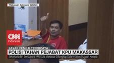 VIDEO: Diduga Korupsi, Polisi Tahan Penjabat KPU Makassar
