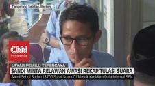 VIDEO: Sandi Minta Relawan Awasi Rekapitulasi Suara